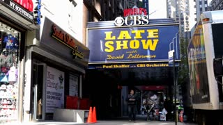 Late show with David Letterman in New York city