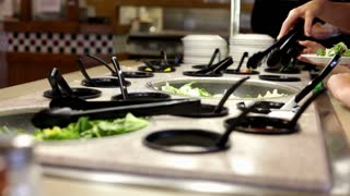 Lettuce on plate at Salad Bar