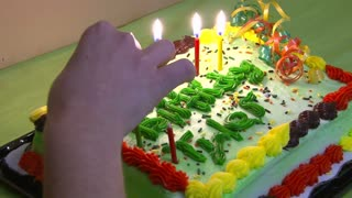 Lighting Birthday Cake Candles