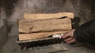 Lighting Paper to Start Fireplace