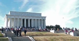 Lincoln Memorial wide angle 4k
