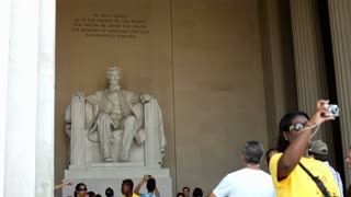 Lincoln Memorial with People