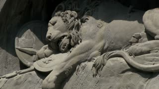 Lion of Lucerne telephoto shot