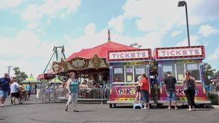 Local carnival in Dayton Ohio 4k