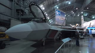 Lockheed Martin F-22 Raptor at WPAFB Museum 4k