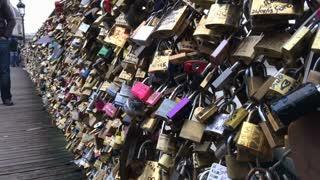 Locks of love in Paris France
