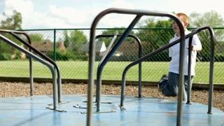 Lonely Boy on Playground