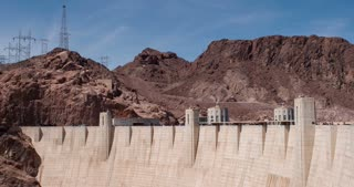Looking at Nevada side of Hoover Dam 4k