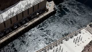 Looking down at Generators of Hoover Dam