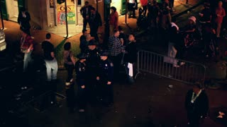 Looking down at people on Bourbon street 2012