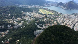 Looking down from the top of the Dois Irmaos or Two Brothers Mountain of Rio 4k