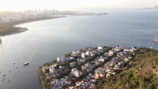 Looking down upon buildings of Rio de Janeiro