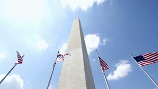 Looking up at Washington Monument