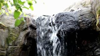 Looking Up at Waterfall