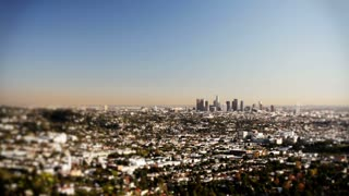 Los Angeles with city central focus