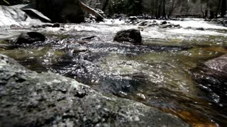 Low angle view of water flowing in stream