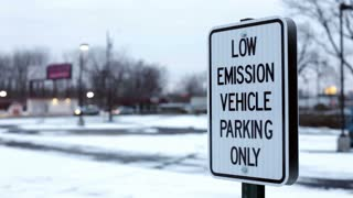 Low emissions vehicle parking only sign