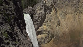 Lower Yellowstone falls following water down