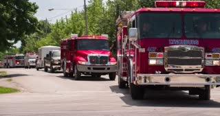 Lynchburg fire truck in 2014 Firemans parade 4k