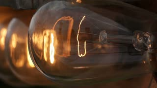 Macro of Flashing Bulbs at Night