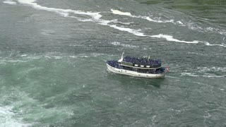Maid of the Mist in water at Niagara Falls