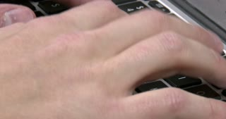 Male hands typing on keyboard 4k