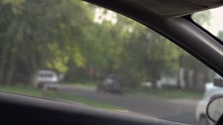 Man breaking into car slow motion 720p