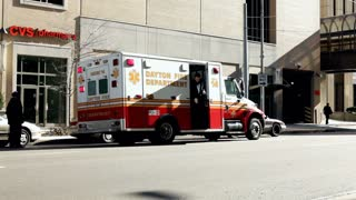 Man gets out of ambulance in Dayton