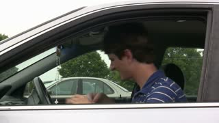Man in Car asking for Directions