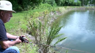 Man thinks he has a bite on fishing line