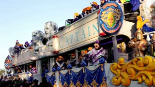 Mardi Gras Captain Endymion Float in Parade