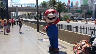Mario on Las Vegas Blvd.