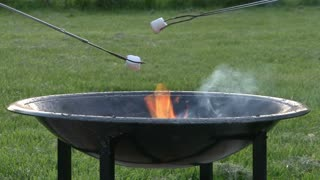 Marshmallows Over Firepit