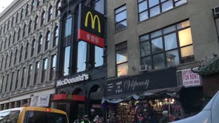 McDonalds in China Town area of New York City 4k