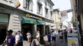 McDonalds restaurant in Luzern Switzerland