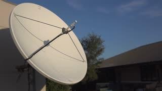 Mega Satellite dish at radio station 4k