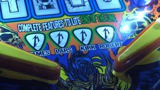 Metallica Pinball game focus on flipper 4k