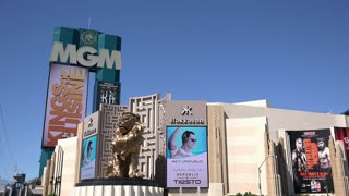 MGM Hotel and Casino building in Las Vegas 4k