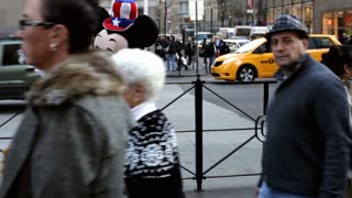 Mickey Mouse in downtown new york city