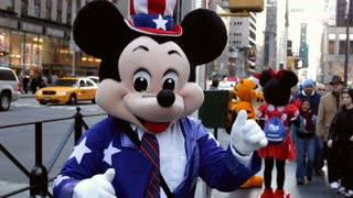 Mickey Mouse on New York City street