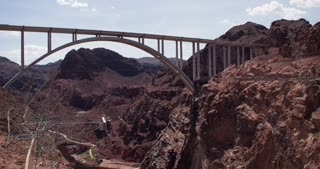 Mike O'Callaghan Pat Tillman Memorial Bridge of Hoover Dam 4k.