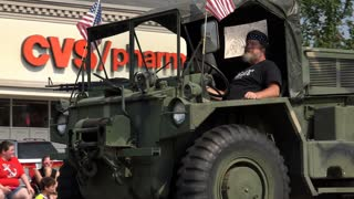 Military Vehicle in Fairborn Ohio July 4th Parade 4k