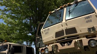 Military vehicles on display 4k