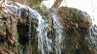 Mini Waterfall over dirt ledge