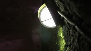 Mining lighting in brick tunnel