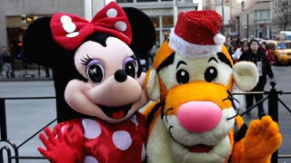 Minnie Mouse and Tigger on NYC street