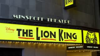 Minskoff Theater in New York City presents Disney The Lion King 4k