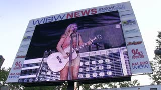 Miranda Lambert on WIBW News super screen