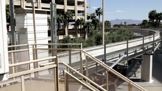 Monorail leaving station