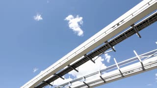 Monorail passing by overhead